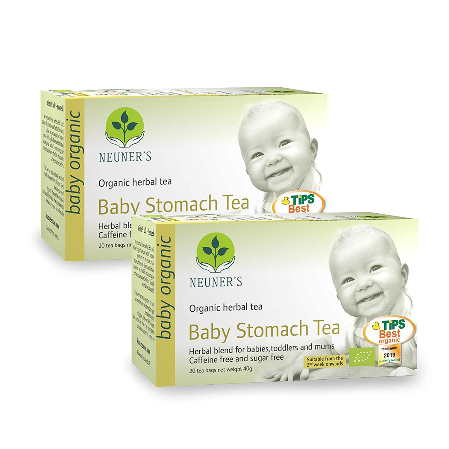 Digestive Baby Tea Pack of 2 Neuner/'s Organic Baby Stomach Tea 20 bags