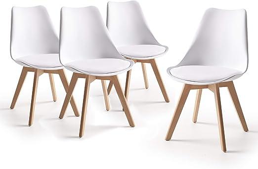 Home Heavenly® - Pack 4 sillas Comedor salón, Silla diseño nórdico ...