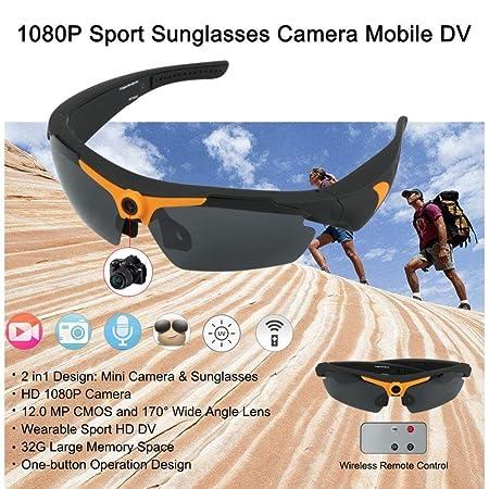 635623a7da8 BJESSENCE 1 PC Wearable Camera HD 1080P Sport Sunglasses Eyewear Camcorder  170° Wide Angle 12.0