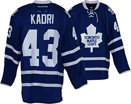 d2b3bae0283 Nazem Kadri Toronto Maple Leafs Game-Used #43 Blue Jersey from the ...