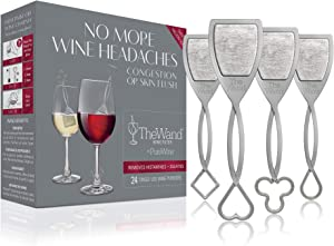 The Wand Wine Purifier (24-Pack) | No More Wine Headaches | Removes Histamines and Sulfites | With Twist-Off Wine Charms