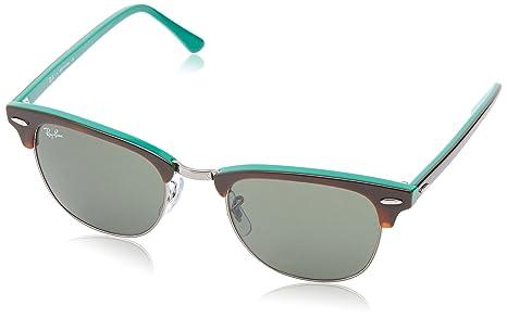 5bb74c97c83 RayBan ClubMaster RB 3016 1127 Shiny Havana Green   Green Sunglasses ...