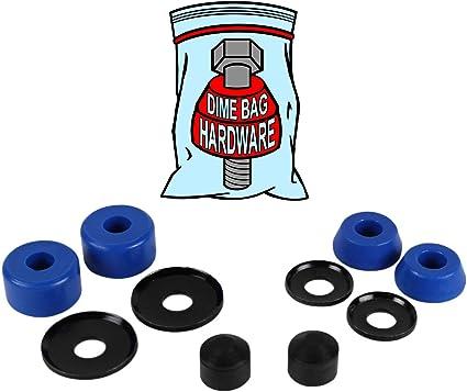 Dime Bag Hardware Skateboard Truck Rebuild Kit Bushings Washers Pivot Cups for 2 Trucks 88A Blue