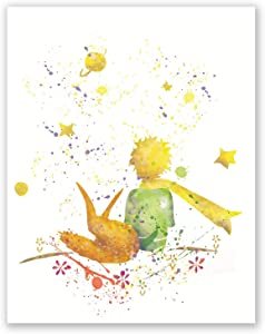 Little Prince Poster - Watercolor Inspired Home Print - Nursery Decor - Party Supplies - Present for Children (8x10)