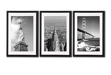 Amazon.com: New York City NYC Skyline Skyscraper Canvas Print Wall ...