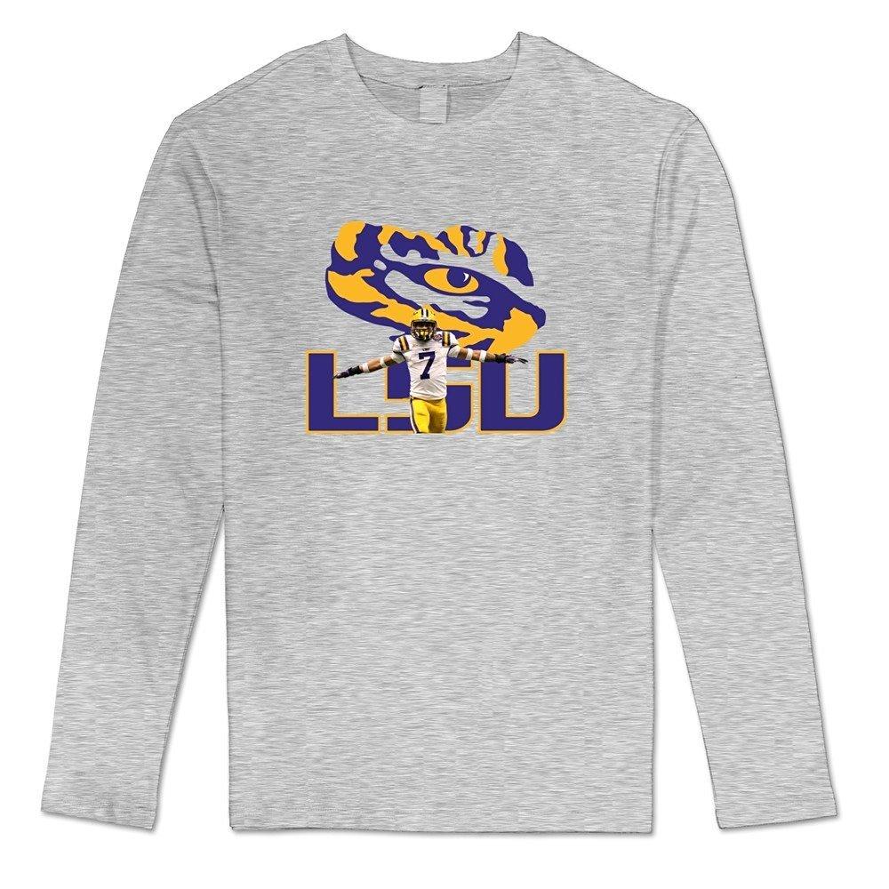 huge discount 3ab64 1d0f4 Amazon.com: DASY Men's O-neck NCAA LSU Tigers Tyrann Mathieu ...