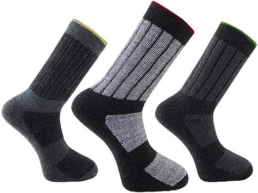9cdf850cfb5 3 Pairs - Mens Big Foot XL Work Boot Socks - Work Socks - Size 11-14   Amazon.co.uk  Clothing