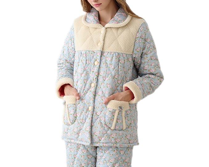 Otoño E Invierno Gruesas Pijamas De Manga Larga Gruesas De Otoño Invierno Y Mujeres Gruesas,