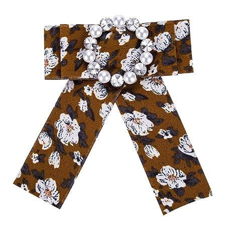 Cinta de satén de la Mujer Bowknot Broche Pin Corbata Atada ...