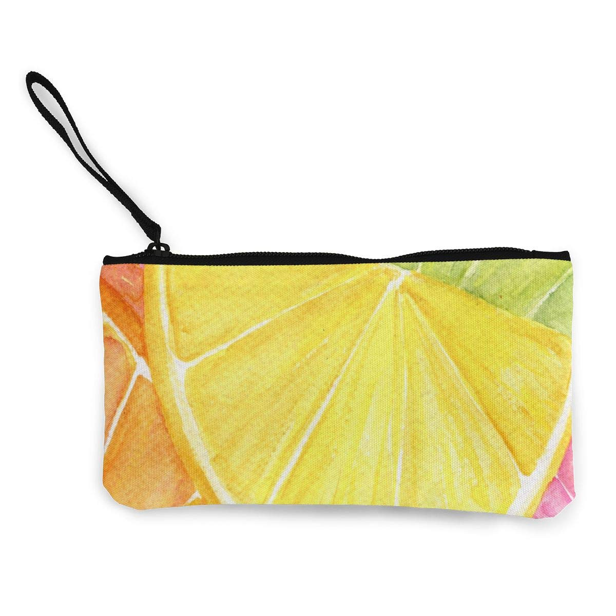 Coin Purse Lemon Watercolors Paintings Girl Zipper Canvas Wallets ChangeHot Case