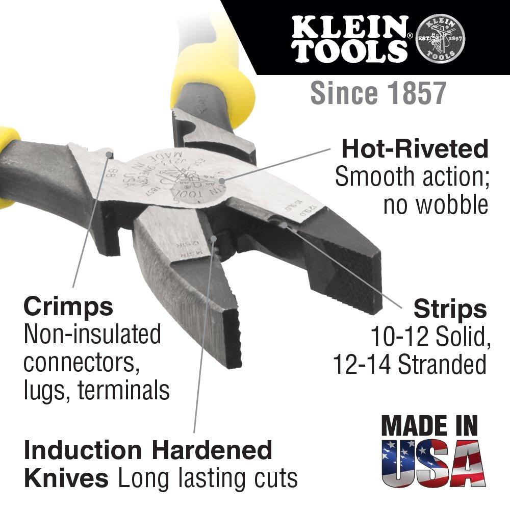 Side Cutters with Wire Stripper/Crimper Klein Tools J2139NECRN ...