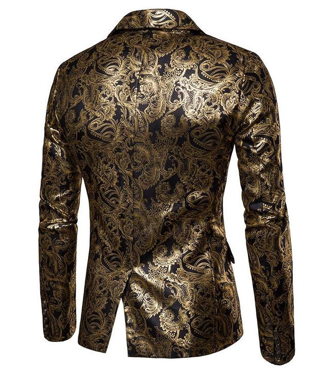 Spirio Men Leopard Print Warm Slim Fit Crewneck Casual Long Sleeve T-Shirts Tops