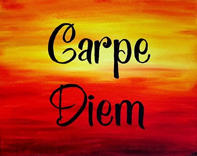 Amazon.com: Carpe Diem Wall Art Inspirational Quotes Wall Decor ...