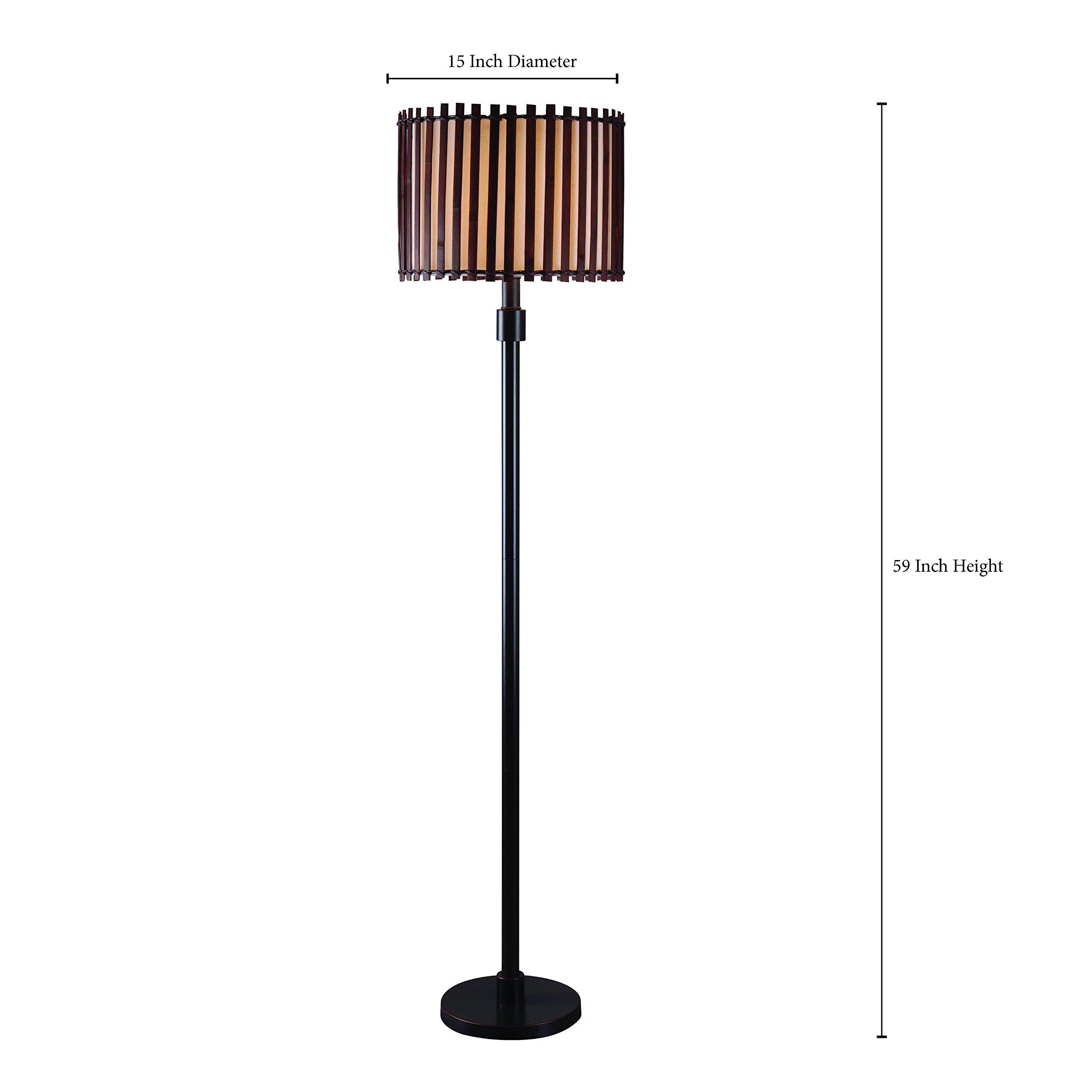 Kenroy Home 32280BRZ Bora Outdoor Floor Lamp, Bronze Finish