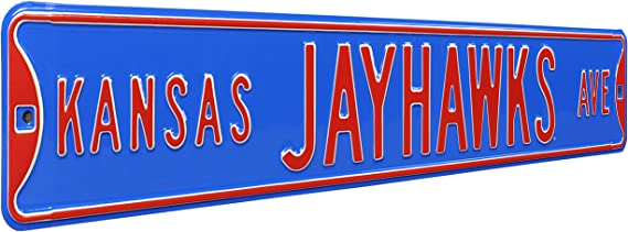 Kansas Jayhawk Blvd Metal Street Sign