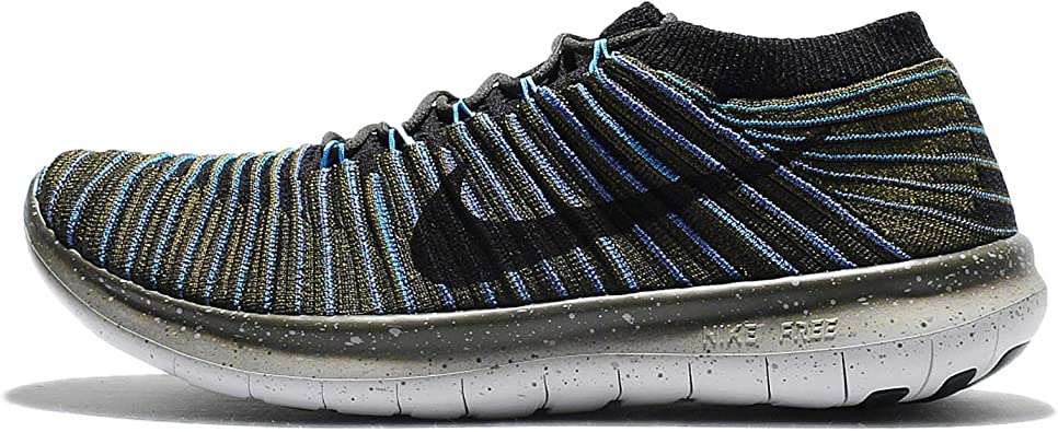 Nike Free RN Motion Flyknit, Zapatillas de Running para Hombre, Verde (Sequoia/Black-Blue Glow-Rough Green), 45 EU: Amazon.es: Zapatos y complementos