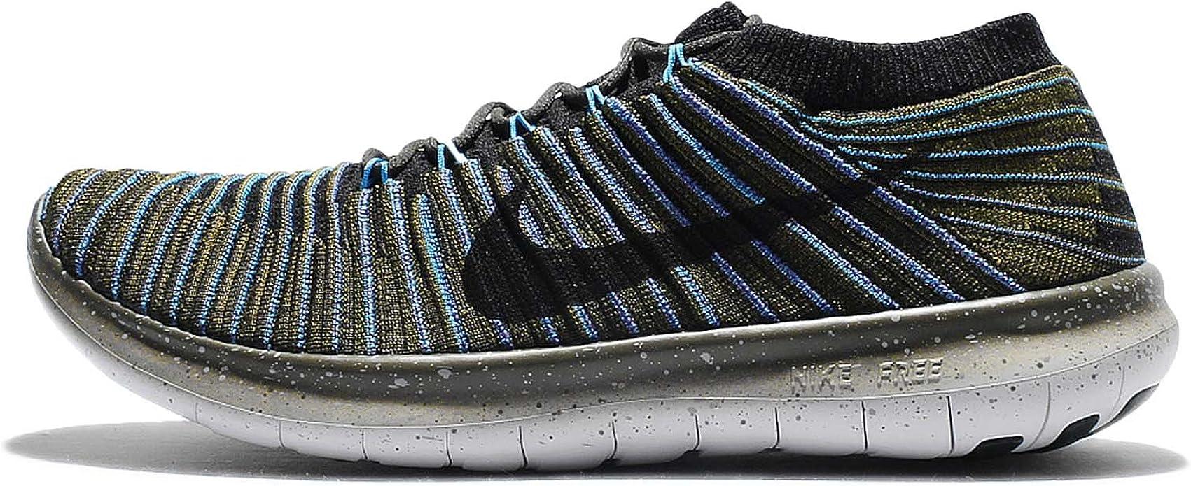 Nike Free RN Motion Flyknit, Zapatillas de Running para Hombre, Verde (Sequoia/Black-Blue Glow-Rough Green), 45 EU: Amazon.es: Zapatos y complementos