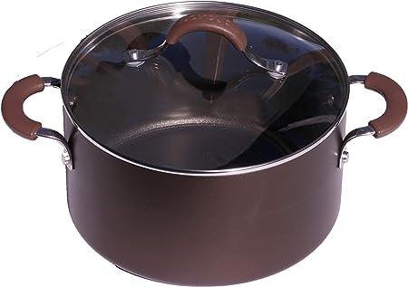Circulon Innovatum Covered Dutch Oven, Hard-Anodized, Non Stick, 4.5 Quart, Cocoa