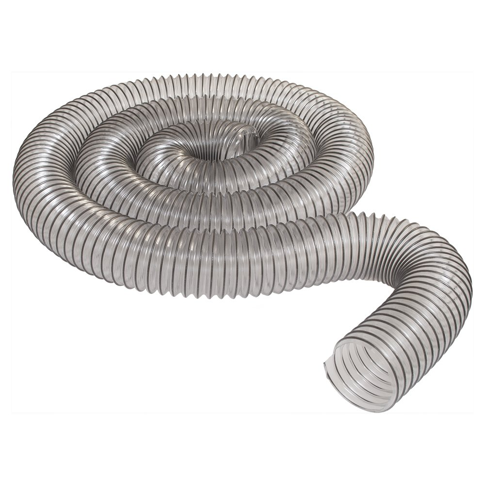 4'' x 10' CLEAR PVC DUST COLLECTION HOSE BY PEACHTREE WOODWORKING PW375
