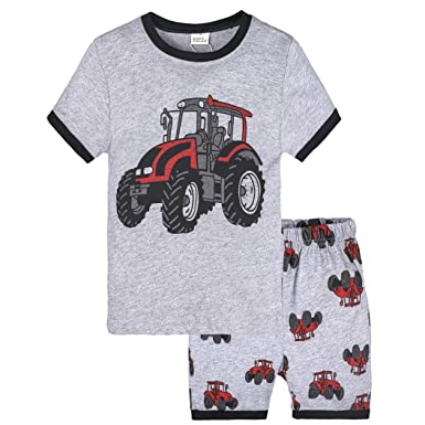 cfd22ec939c8 FeiliandaJJ Baby Boys Clothes Set, 2Pcs Kids Toddler Cute Cartoon Print  Short Sleeve Tops T-Shirt and Shorts Pants Outfit Pajamas Set:  Amazon.co.uk: ...