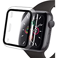 Compatible Apple Watch Case with Screen Protector, Clear Hard PC Bumper Case + 9H Bulletproof Tempered Glass Screen…