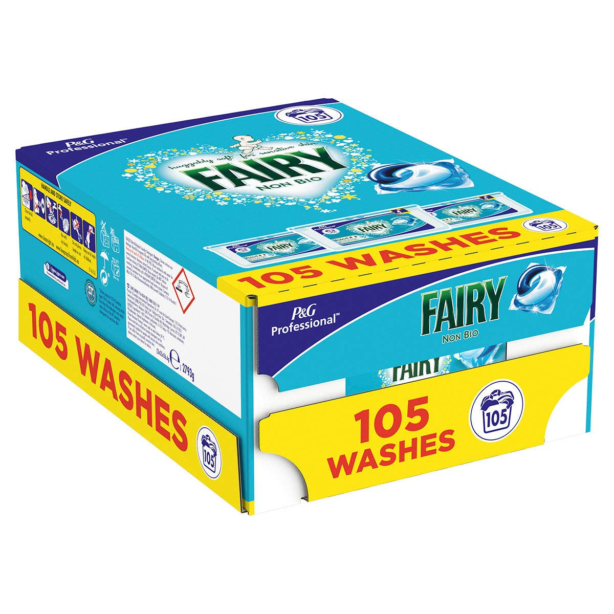 Fairy Non Bio Pods - Washing Capsules for Sensitive Skin - Pack of 3 x 35 Pods - 105 Washes