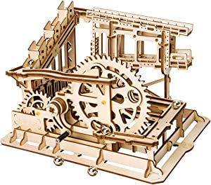 ROKR 3D Wooden Puzzle Adult Craft Model Building Set Mechanical Marble Run Games Home Decoration-Educational Toy for Christmas,Birthday Gift for Boys and Girls Age 14+(Magic Crush Cog Coaster)