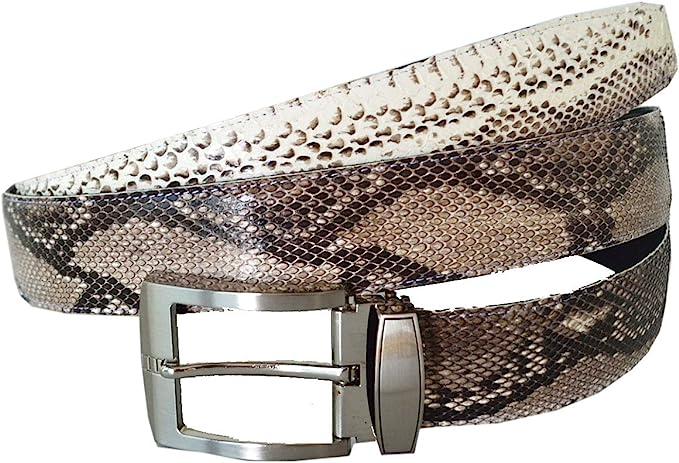 Genuine Black /& Blue Python Snake Skin Belt sizes 24 to 38
