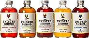 The Twisted Shrub | 5-Flavor Variety Pack | Apple Cider Vinegar Drink Mixers for Healthier Sodas & Cocktails | 8oz bottles