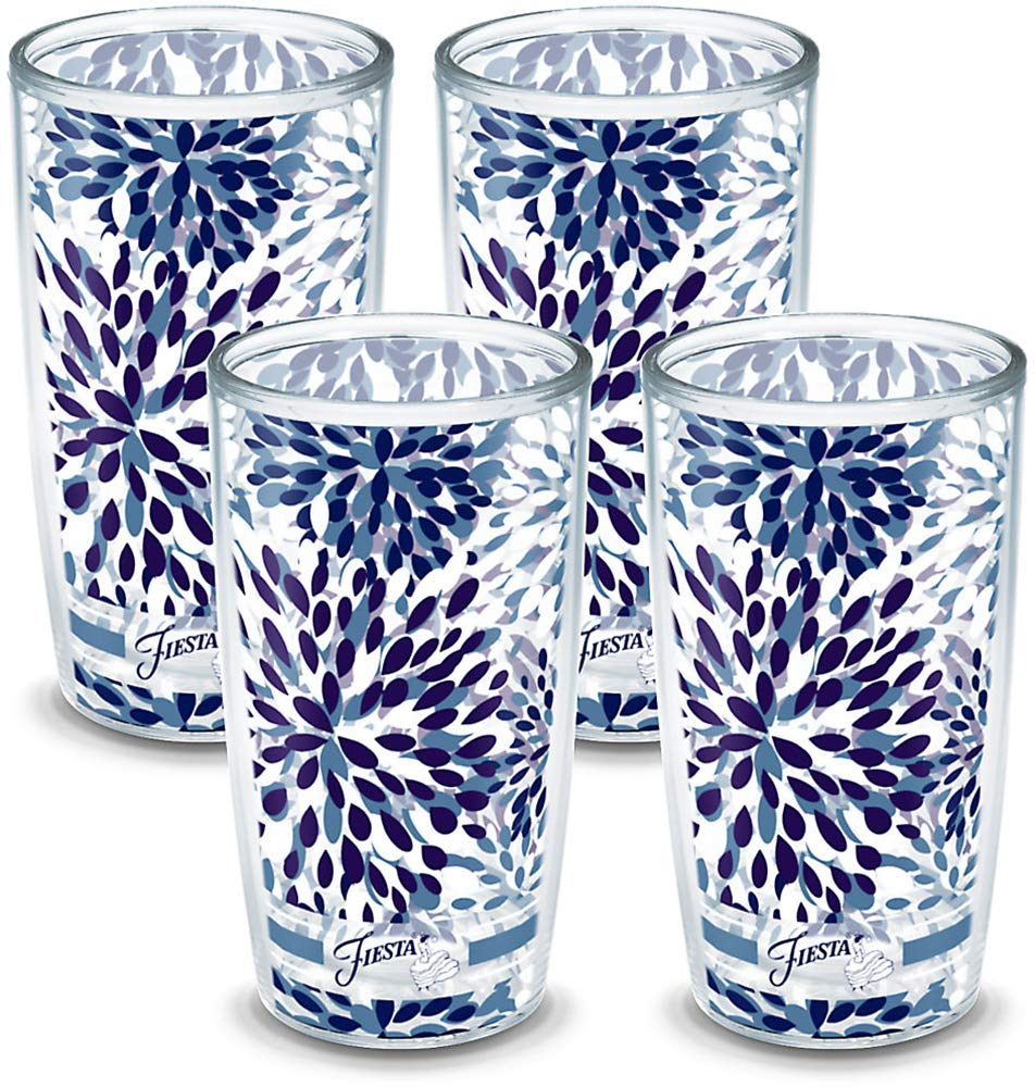 Tervis Fiesta - Lapis Calypso Insulated Tumbler With Wrap 4-Pack Gift Set - Boxed, 16 oz, Clear - 1102122