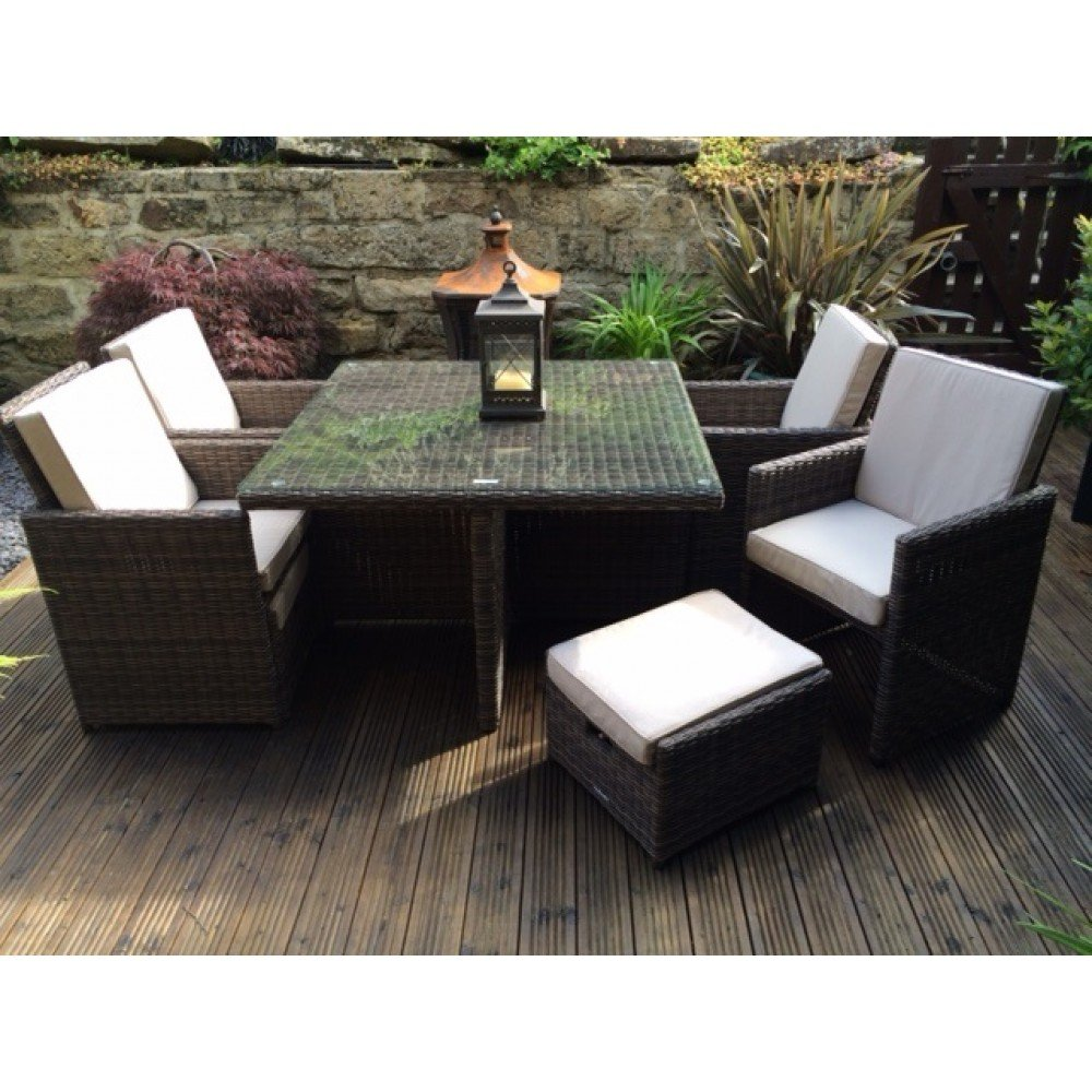 amazoncom radeway 9piece wicker furniture dining set patio lawn u0026 garden