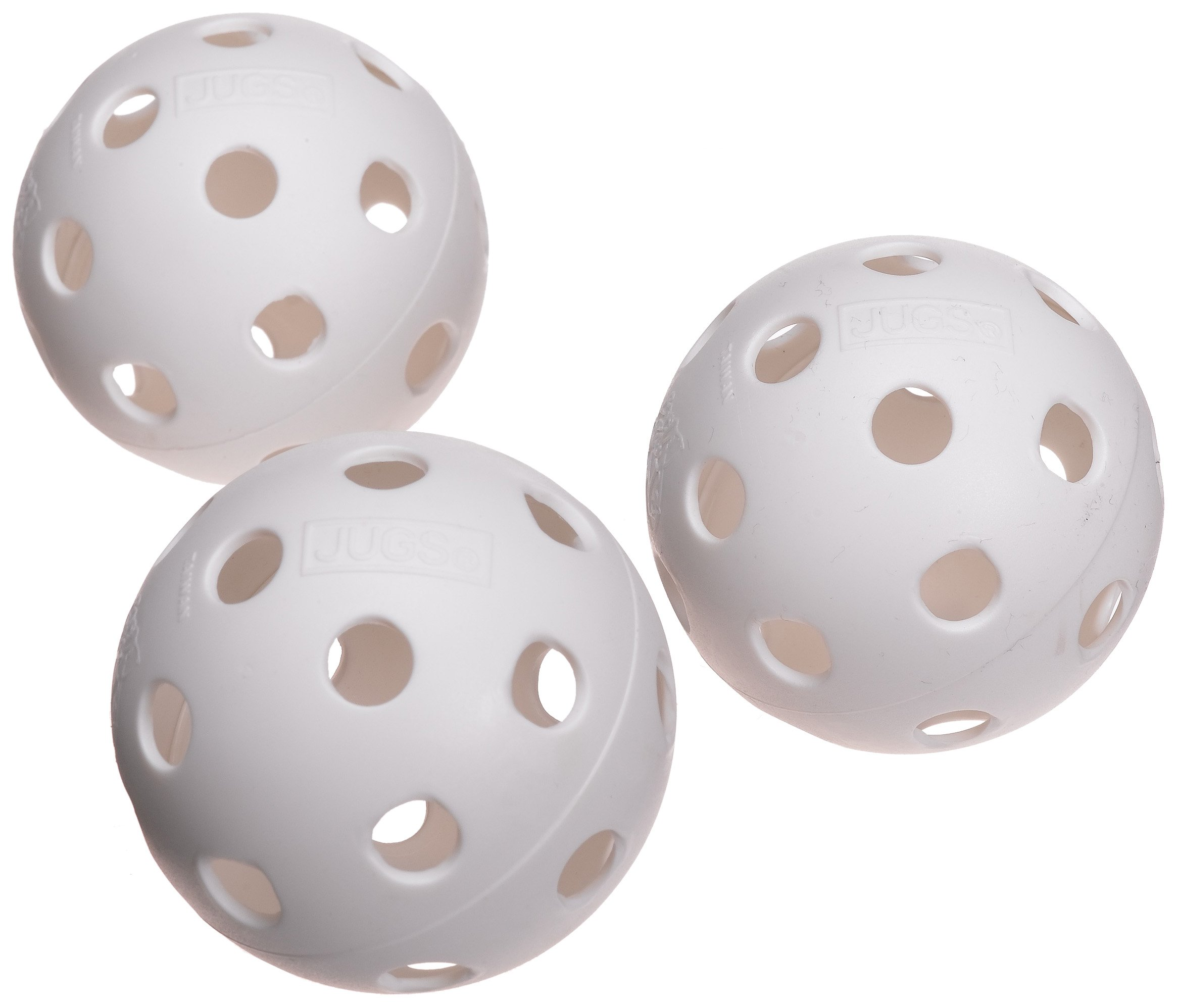 Jugs White Poly Baseballs (One Dozen)