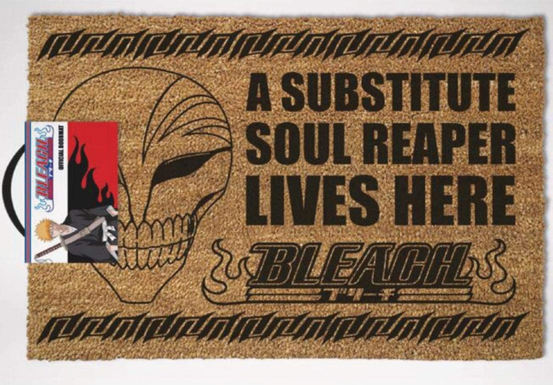 Vanilla Underground Official Bleach Anime Substitute Soul Reaper Lives Here Door Mat One Size