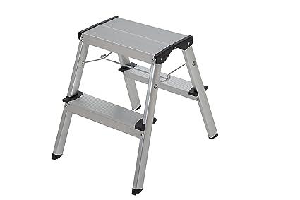 Phenomenal Abru 22002 2 Double Sided Step Stool Aluminium Bralicious Painted Fabric Chair Ideas Braliciousco