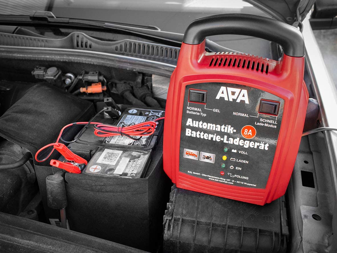 Apa 16628 Automatik Batterie Ladegerät 12 V 8 A Auto