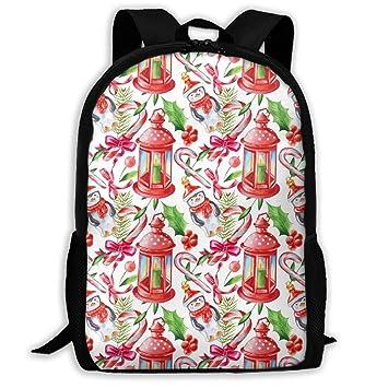 TAOHJS106 Penguin Christmas Pattern Waterproof Adult Backpack Shoulder Bag  for Women and Men Premium Durable Rucksack 48f5703b68378