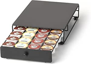 Under the Brewer Storage Drawer for K-Cup Packs Organize 24 K-Cup Pods. K-Cup Holder will fit underneath all At Home Keurig Hot Brewers Saving Counter Space