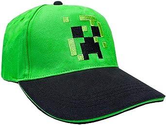 Minecraft Creeper Cara Niños/Jóvenes Gorra de béisbol del Snapback ...