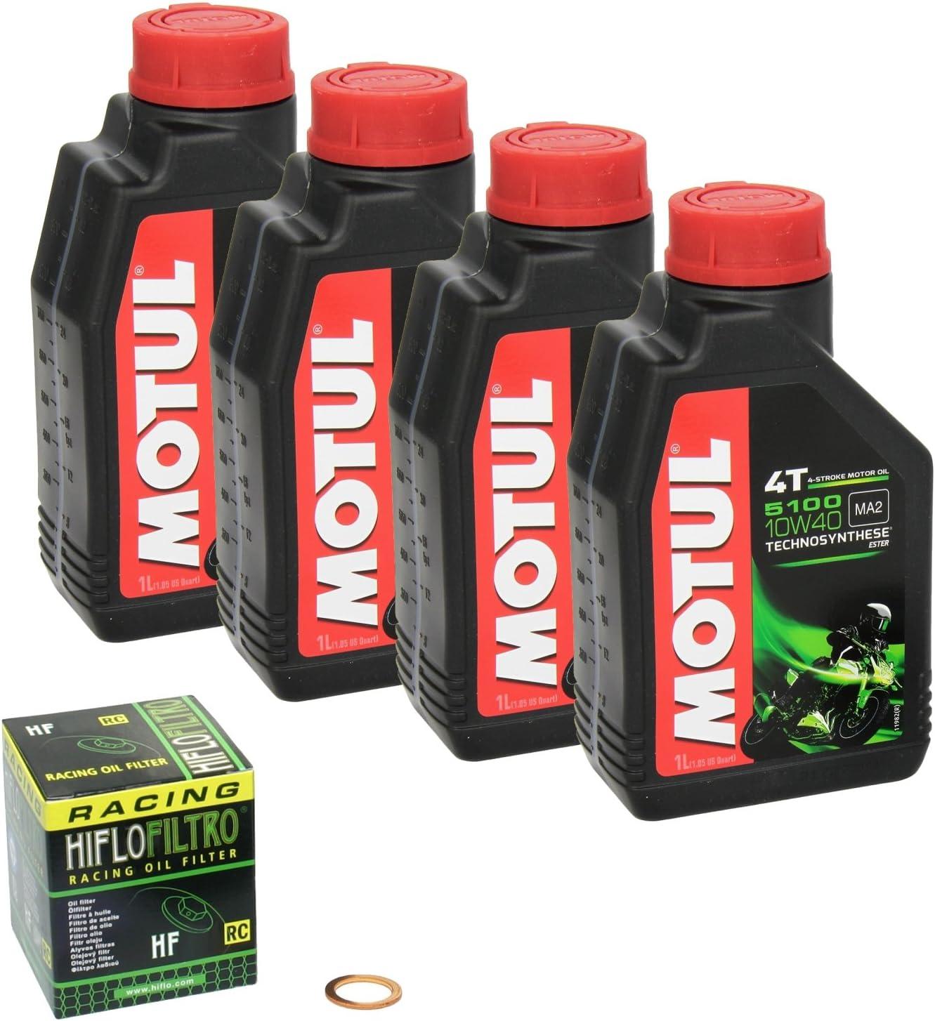 Motul 5100 10w 40 Ölwechsel Set Suzuki Bandit S 1200 Gsf 1200 S Bj 96 06 Motoröl Hiflo Racing Ölfilter Und Dichtring Auto