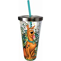Spoontiques 21344 Scooby Doo Glitter Cup w/Straw, 20 Ounces, Multicolored