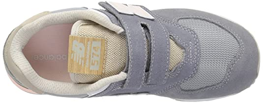 New Balance Baskets YV574 SG Jeunesse Velcro 35 Gris: Amazon