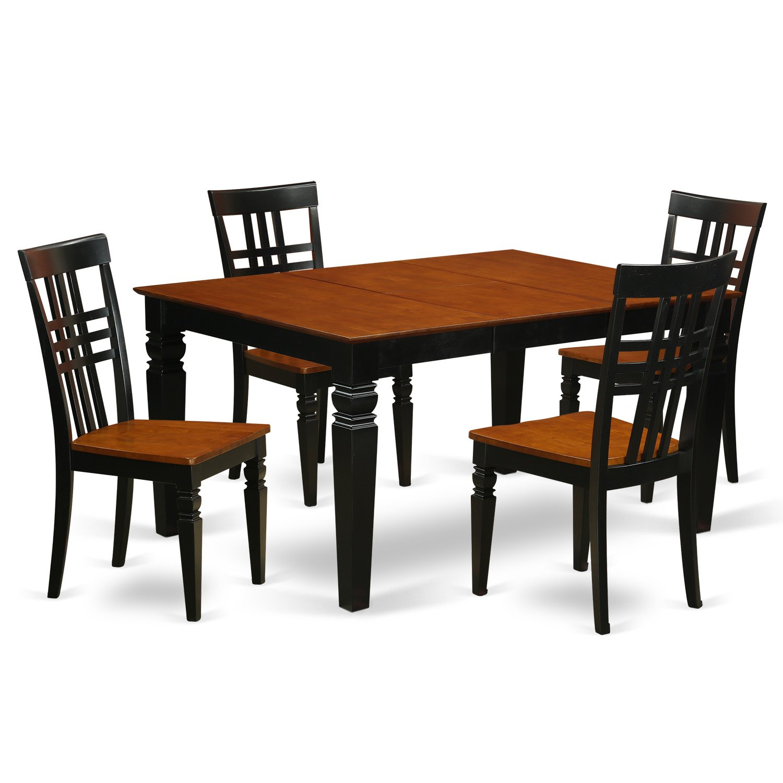 Amazoncom East West Furniture Weston WELG5 BCH W 5