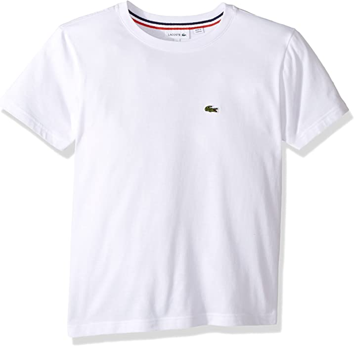 5df4d11b0822 Amazon.com  Lacoste Toddler Boy Short Sleeve Solid Crew Tee Shirt ...