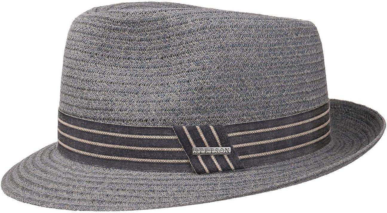 Cappelli da Spiaggia Sole con Nastro in Grosgrain Primavera//Estate Stetson Cappello di Paglia Carson Fedora Uomo