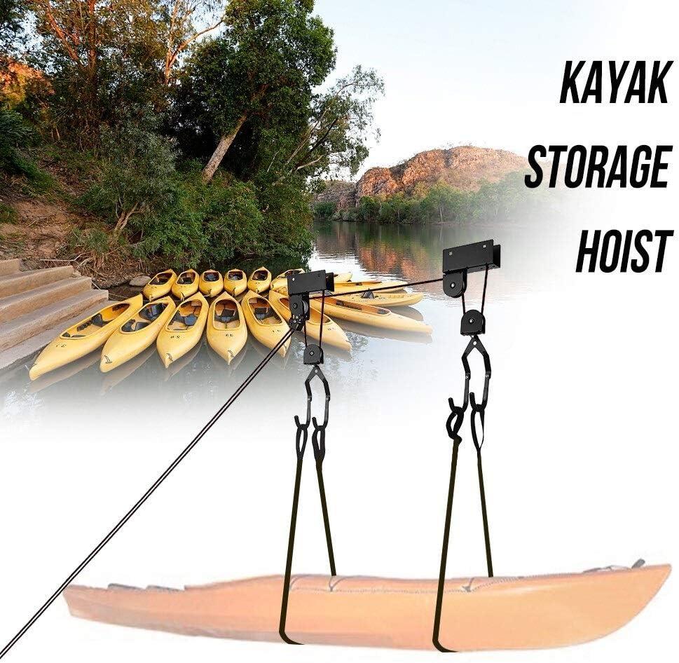 PassBeauty Palan de rangement pour kayak Fixation plafond pour cano/ë Charge max 50 kg