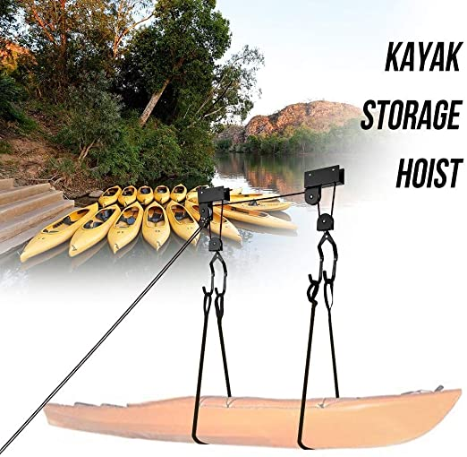 Taidallo Kayak Soporte de Techo para Garaje con Capacidad de elevación de la Escalera de 125 Libras, Exquisita Mano de Obra: Amazon.es: Hogar
