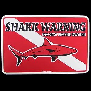SW Treasure Gurus Shark Warning Scuba Diving Dive Flag Sign Do NOT Enter
