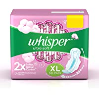 Whisper Ultra Soft Sanitary Pads - 50 Pieces (XL)
