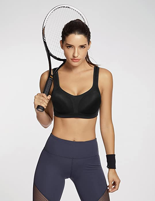 7feb1ab24f Women s Underwire Firm Support Contour High Impact Sports Bra. SYROKAN Women s  Underwire Firm Support Contour High Impact Sports Bra ...