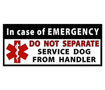 Amazoncom DO NOT SEPARATE Service Dog Handler Medical Alert - Window alert decals amazon